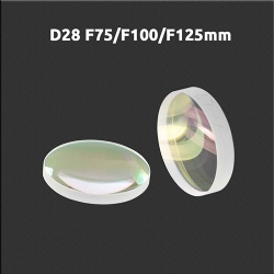 Laser cutting focus lens D28 F75/F100/F125 mm