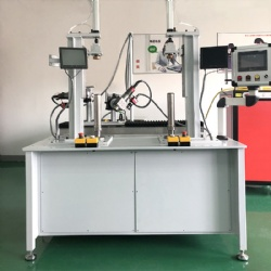 Double optical filter cartridge welding machine